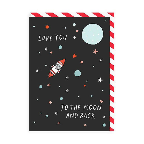 Valentines card with enamel pin