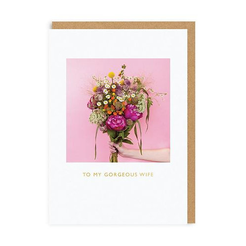 'my gorgeous wife' valentines card