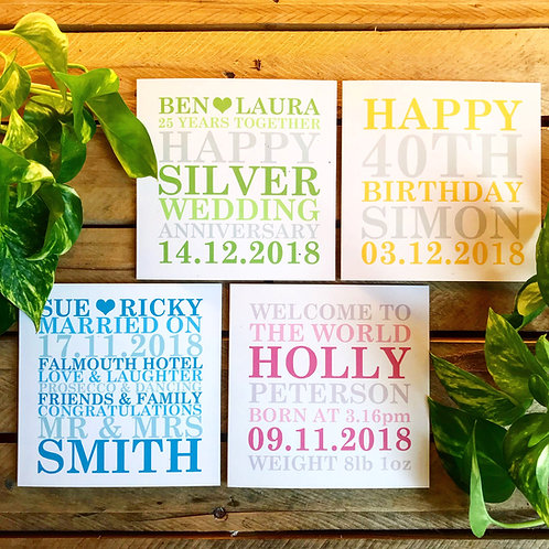 Personalised Card with up to 25 words