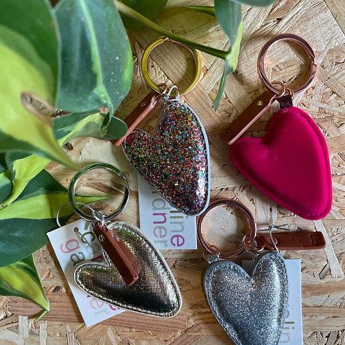 Caroline Gardner Heart Keyring