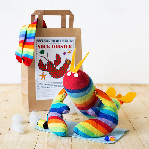 sock lobster craft kit