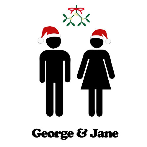 Personalised Christmas Couple Card