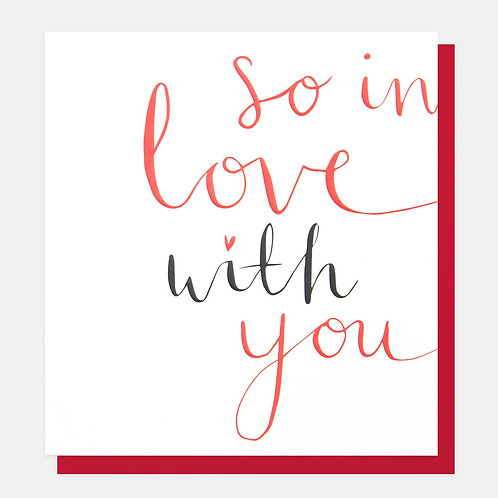 'So in love with you' valentines card