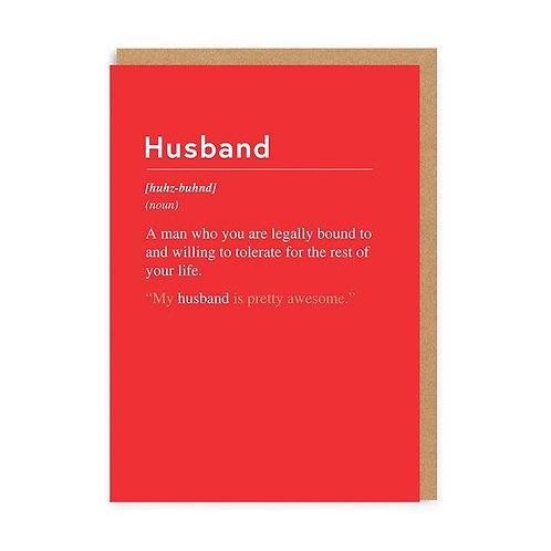'husband' valentines card