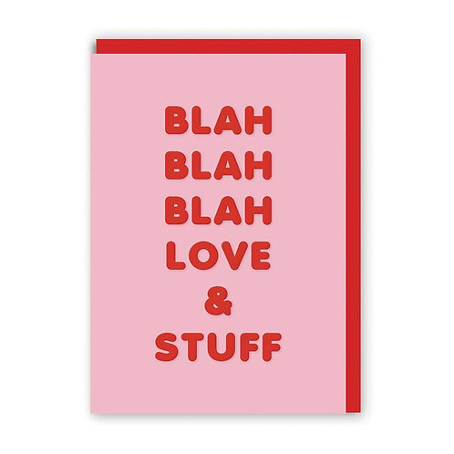 'Love and Stuff' valentines card