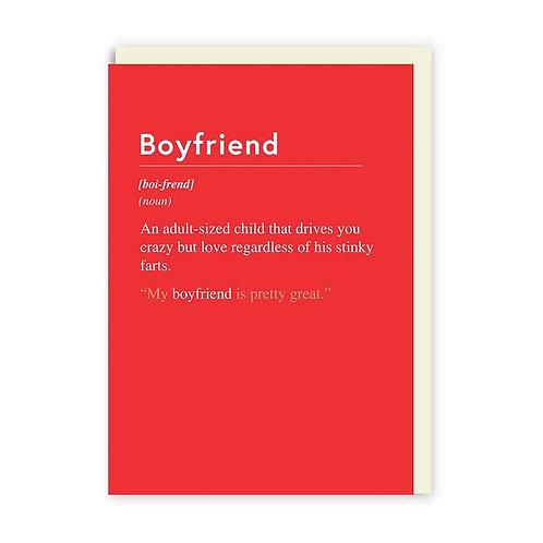 'Boyfriend' valentines card