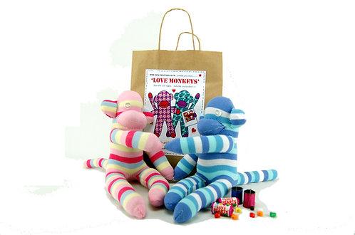 sock love monkeys craft kit