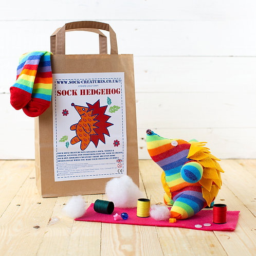 Sock Hedgehog Craft Kit