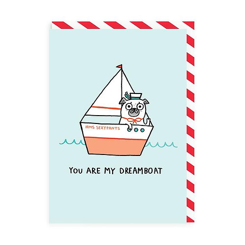 'Dreamboat' valentines card