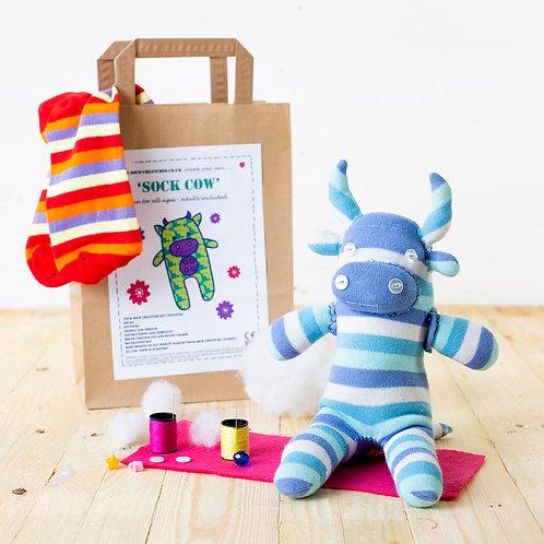 sock cow craft kit