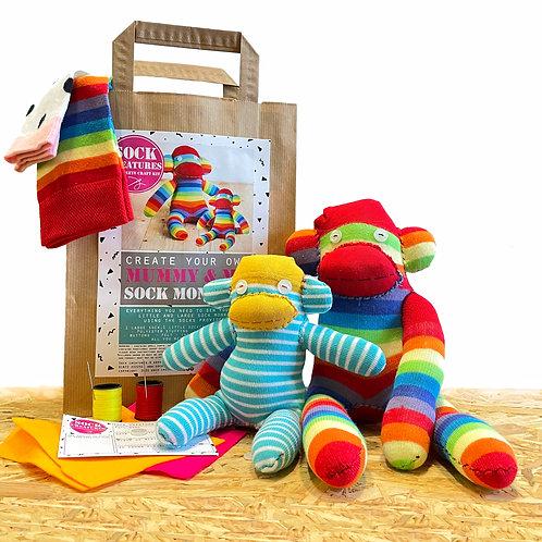 Mummy & Me Sock Monkeys Craft Kit