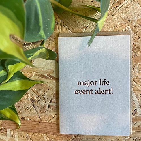 Major Life Event Alert Card