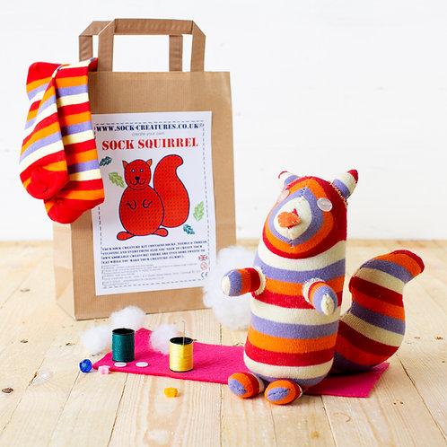 Sock Squirrel Craft Kit