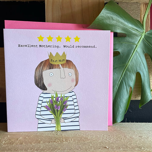 Excellent Mothering Card