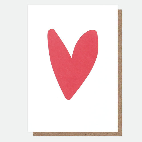 Red Heart Valentines Card