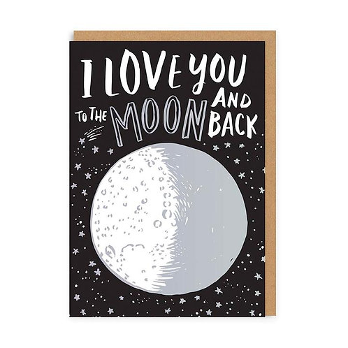 'love you to the moon and back' valentines card