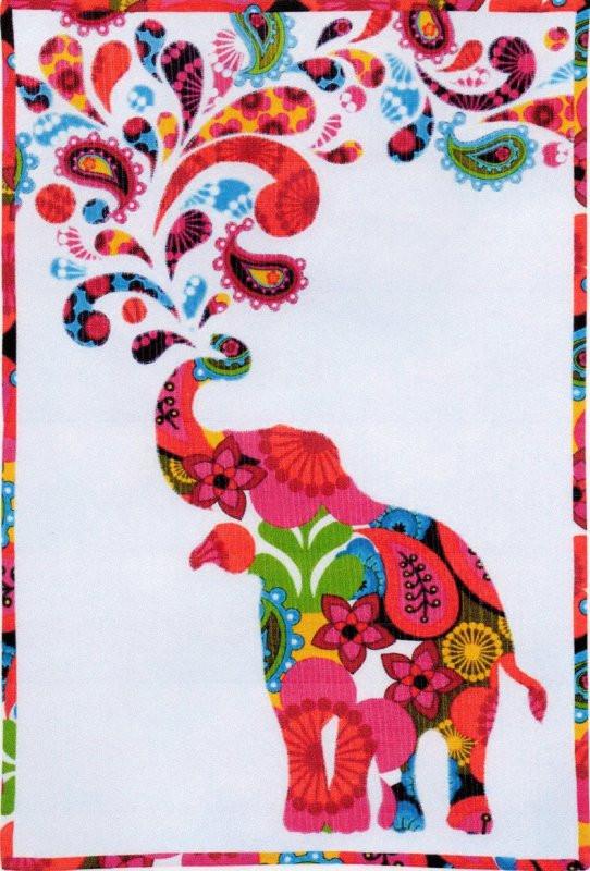 Free Paisley Splash Elephant Pattern