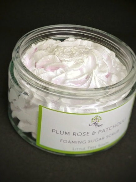 Plum, Rose & Patchouli Foaming Sugar Scrub