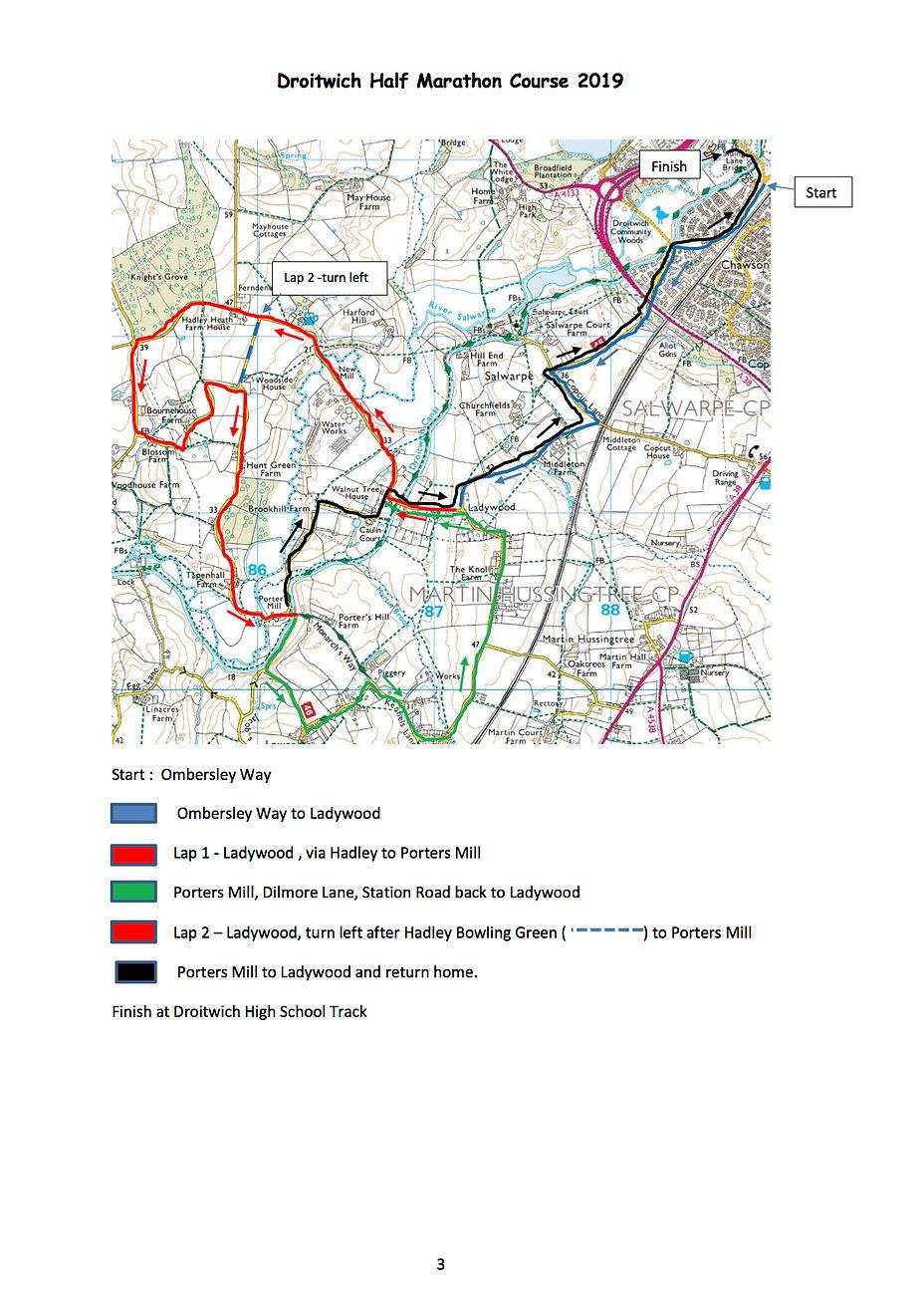 Droitwich Half Marathon Entry Form 2019.