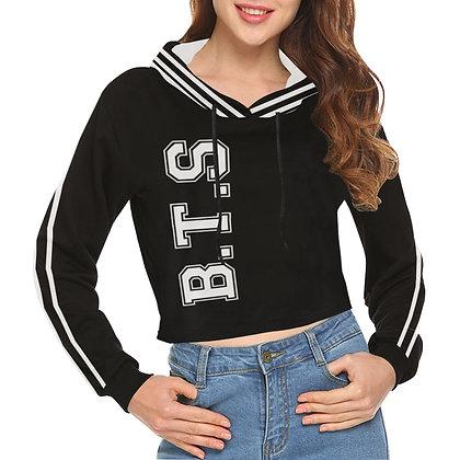 BTS Varsity Stripe - Crop Hoodie