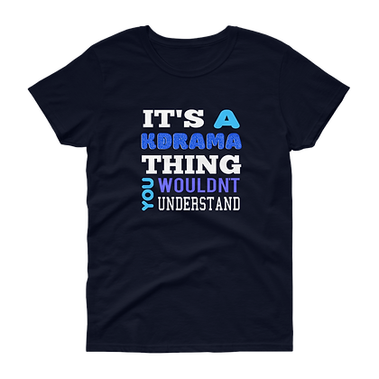 Kdrama Thing (Blue + White) - Tee