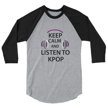 Keep Calm Unisex Raglan Shirt