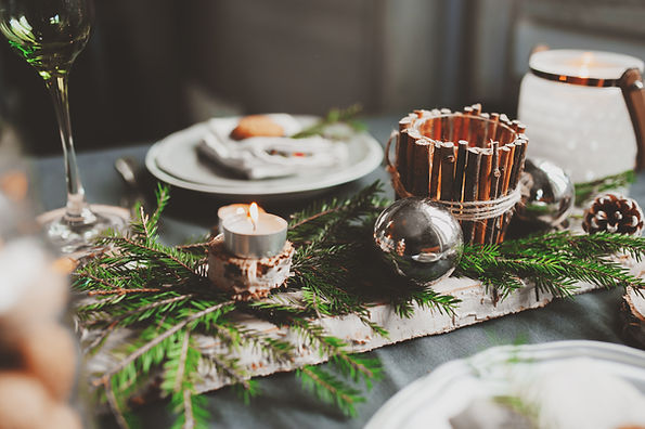 Festive Christmas and New Year table set