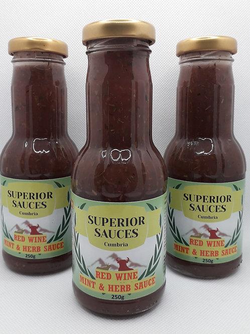 Red Wine Mint & Herb Sauce 250g