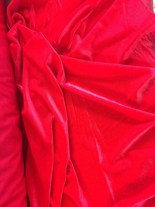 Rojo flúor terciopelo bielástico