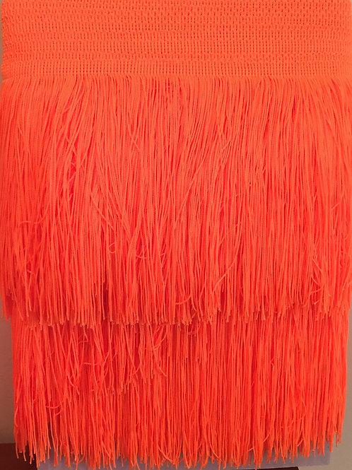 Flecos naranja flúor