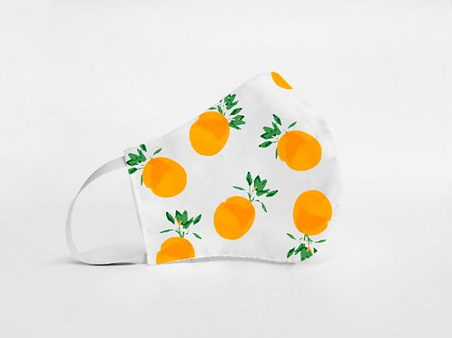 Mascarilla personalizable y lavable-Naranjas