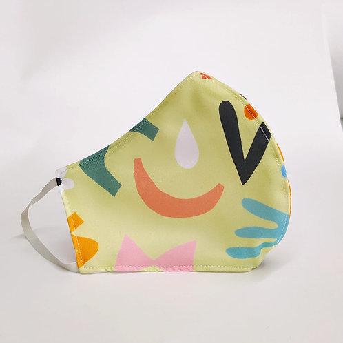 Mascarilla personalizable y lavable-Abstracto amarillo