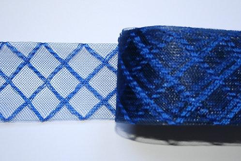 Crinolina azul rombos