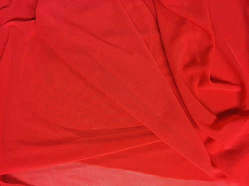 Rojo tul transparente
