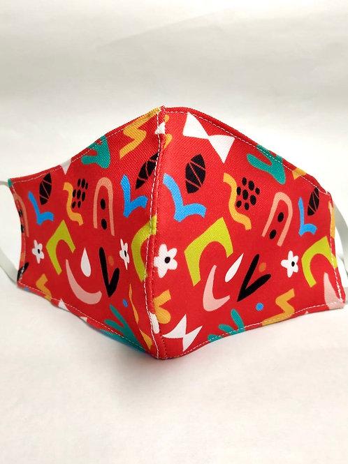 Mascarilla personalizable y lavable-Abstracta roja