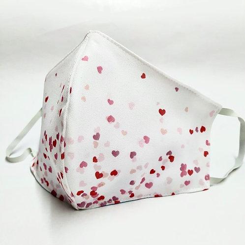 Mascarilla personalizable y lavable-Corazones rojos