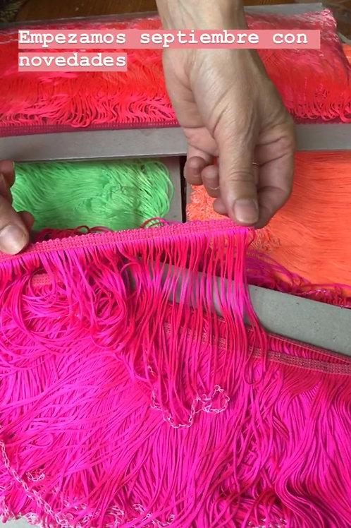Flecos elásticos en colores flúor