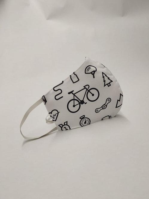 Mascarilla personalizable y lavable-Bicicleta