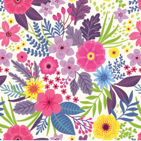 Mascarilla personalizable y lavable-Flores
