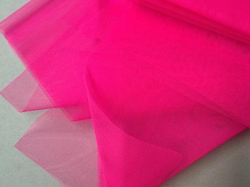 Tul tieso rosa flúor