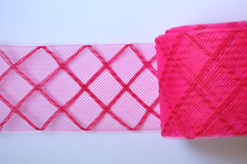 Crinolina  rosa flúor rombos