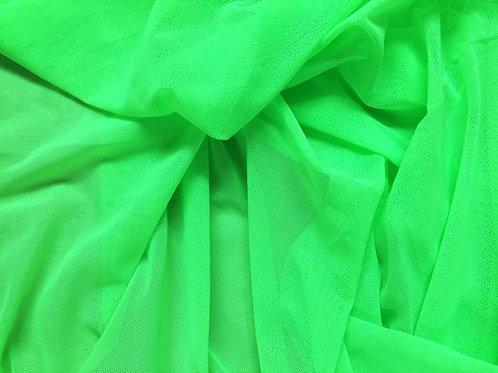 Verde lima tul transparente