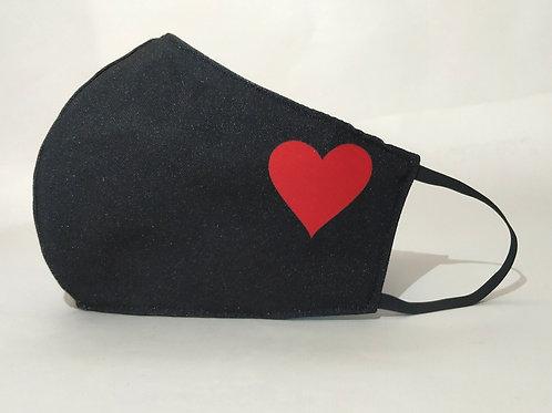 Mascarilla personalizable y lavable-Corazón lateral
