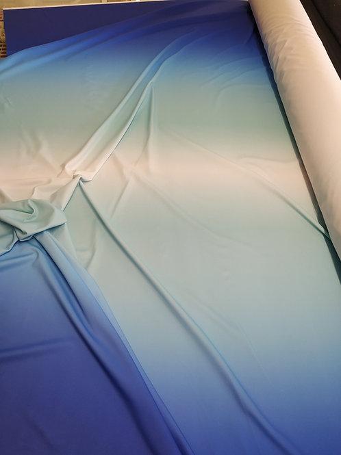 Lycra degradada en azules