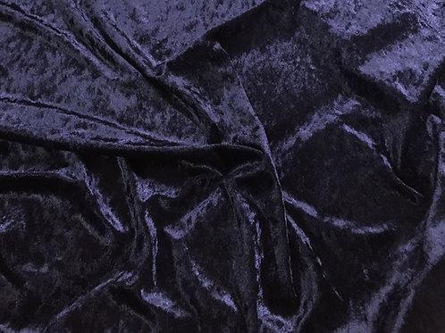 Azul marino terciopelo martelé