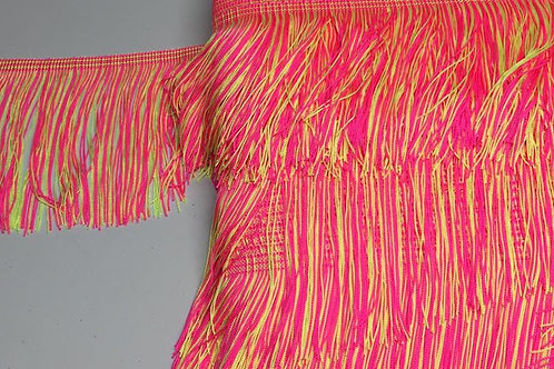 Flecos combinados amarillo y rosa flúor
