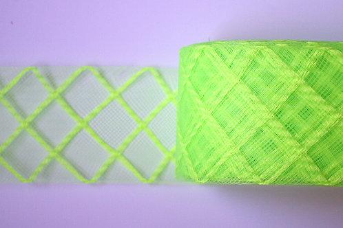 Crinolina verde flúor rombos