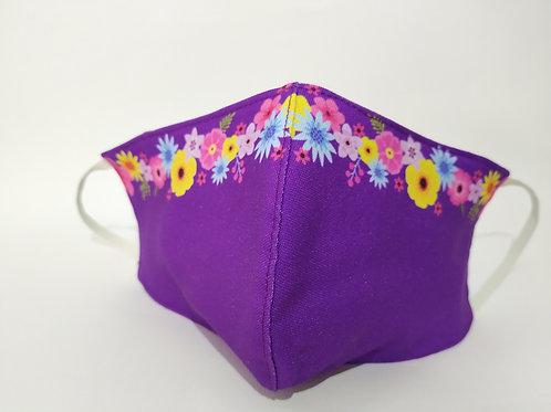 Mascarilla personalizable y lavable-cenefa flores