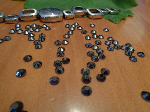 Jet Hematite - 100 cristales - HF