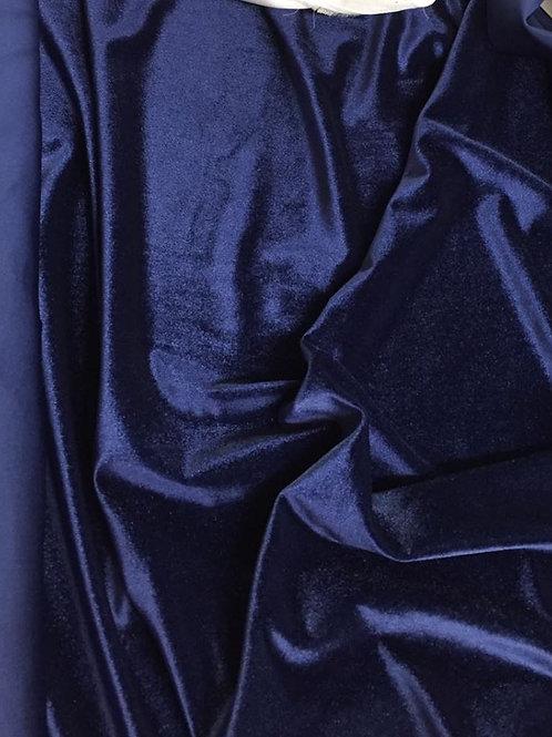 Azul marino bielástico terciopelo